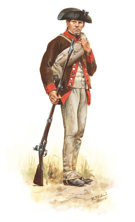 A soldier of the 12th Massachusetts, 1777. By Don Troiani