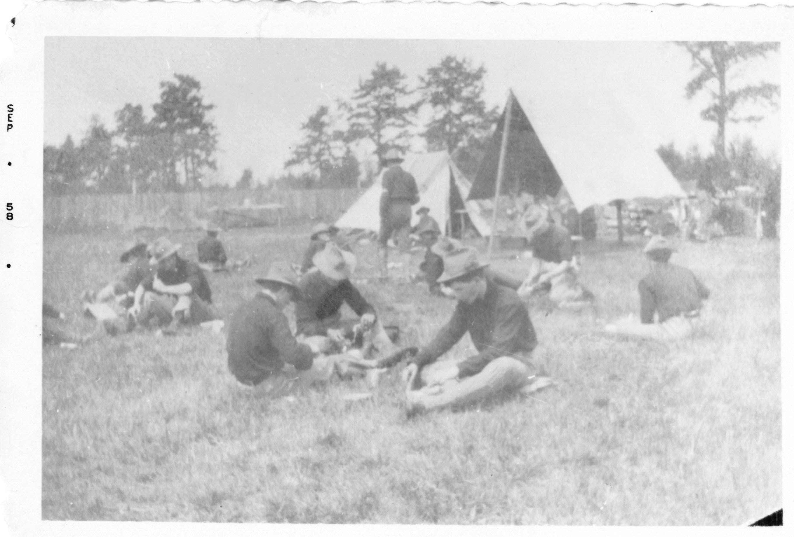 1st Maine Infantry at Camp Keyes, 1898